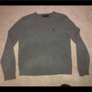 Mens wool polo sweater
